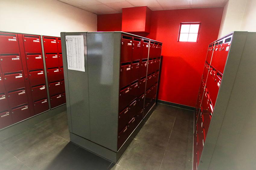 Boîtes aux lettres pour les courriers des étudiants des appartements lasalle Beauvais