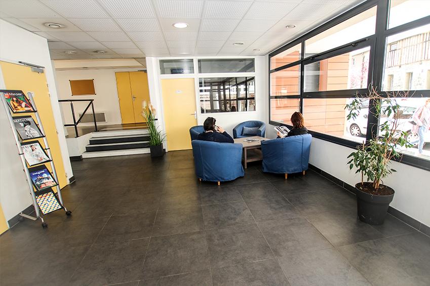 Hall d'entrée : espace d'accueil des étudiants logés dans la résidence La salle de Beauvais
