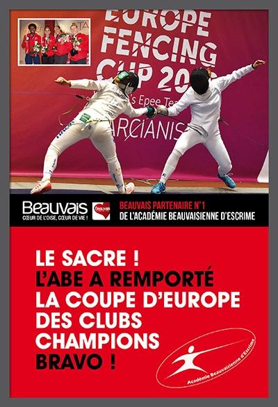L'Académie Beauvaisienne d'Escrime sur le toit de l'Europe !